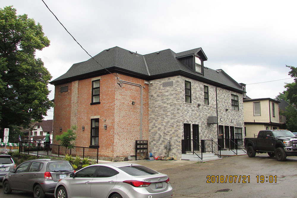 646 Main St. E - completed rear view